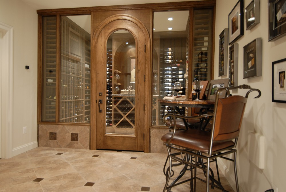 Photo By Kirkpatrick's Construction. Award Winning Wine Cellar