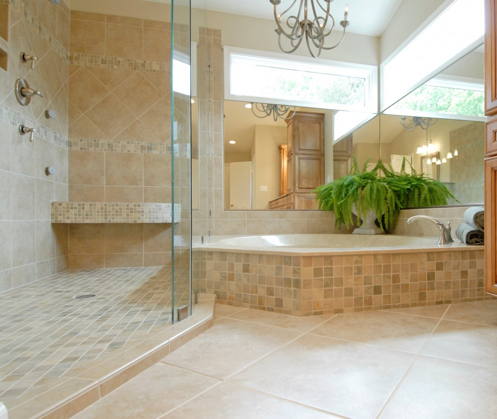 Photo By Kirkpatrick's Construction. Elegant Bathroom