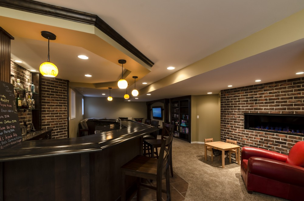 Photo By Synergy Builders. Lower Level Remodel