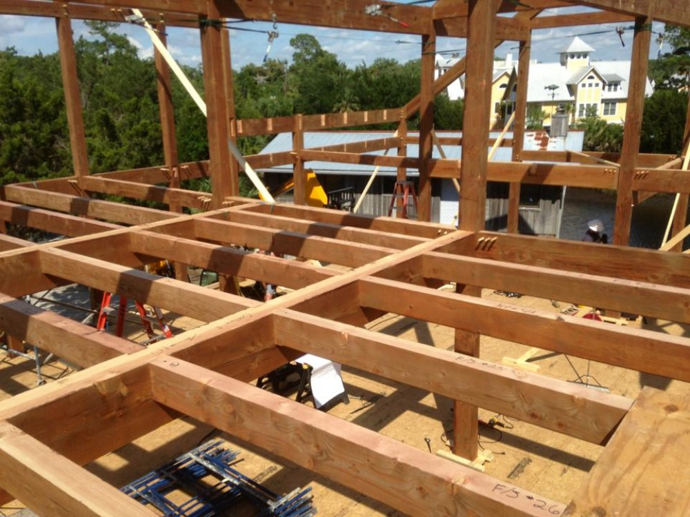 Photo By Lancaster County Timber Frames, Inc.. Florida Timber Frame