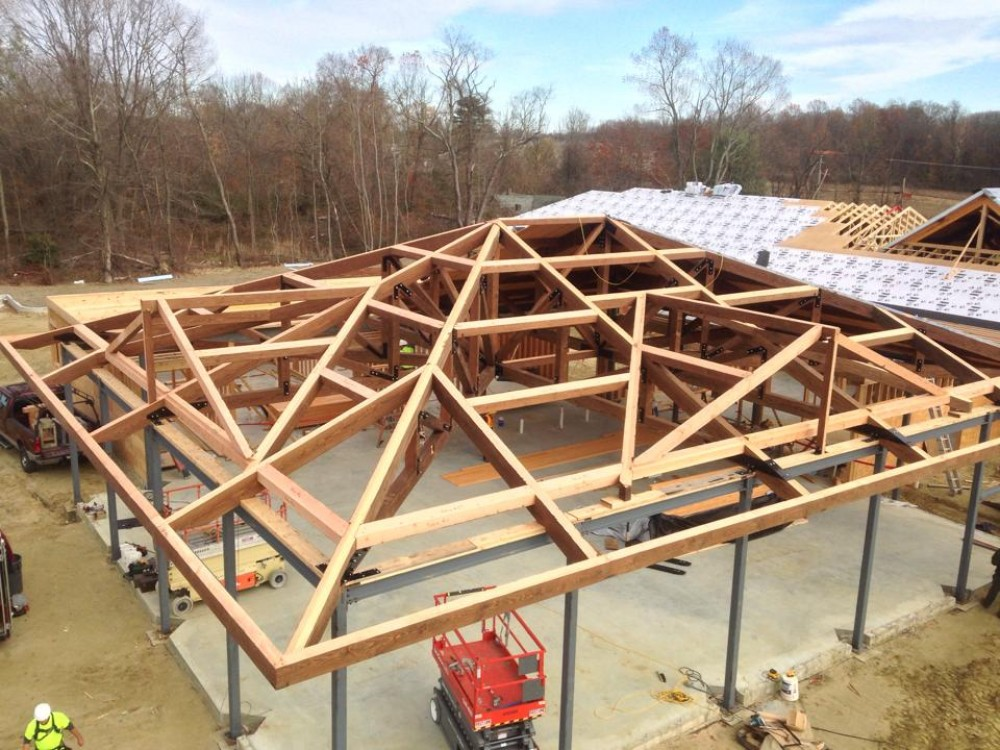 Photo By Lancaster County Timber Frames, Inc.. Timber Frame Dining And Entry For NJ