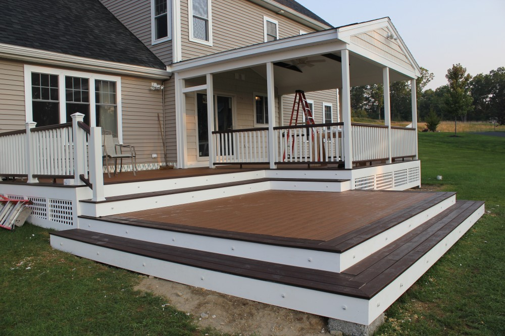 Photo By Professional Building Services. Custom Designed And Built Deck And 3 Season Room