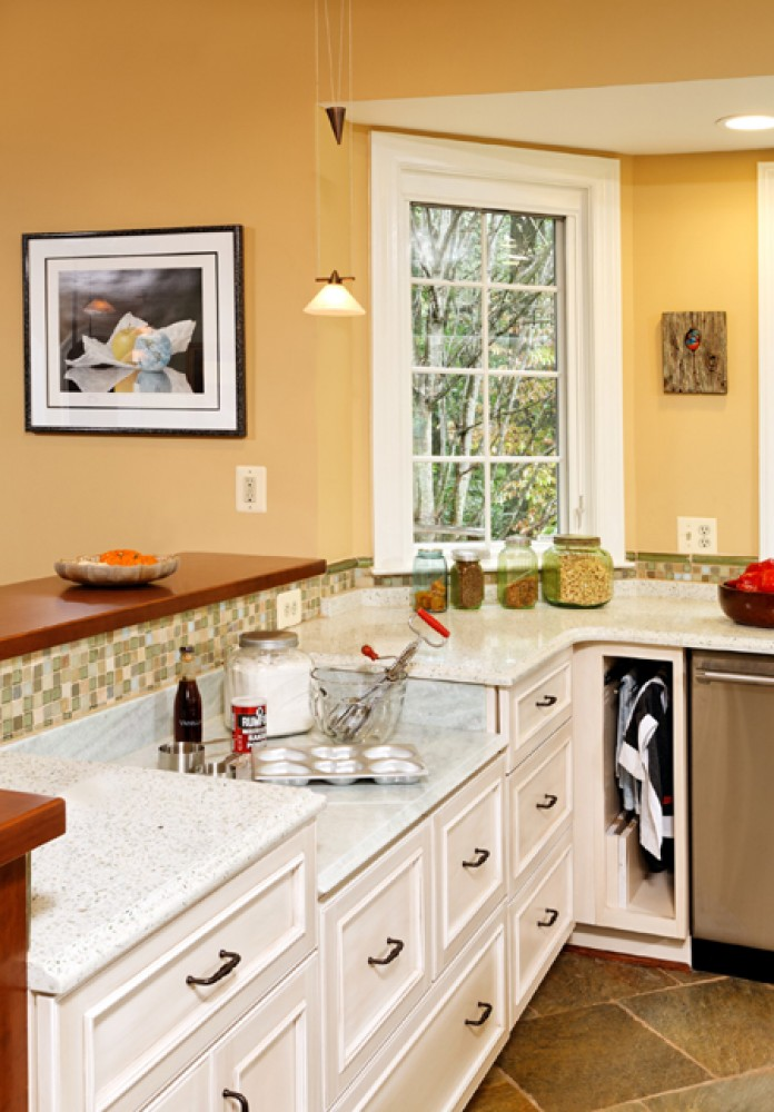 Photo By Tabor Design Build. Stone Green Kitchen