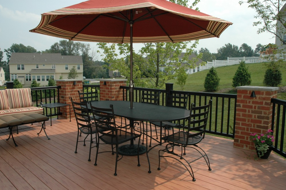 Photo By Breyer Construction & Landscape, LLC. Backyard Deck