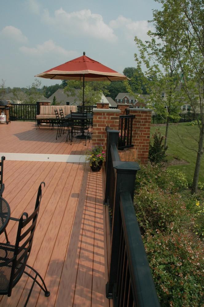 Photo By Breyer Construction & Landscape, LLC. Backyard Deck