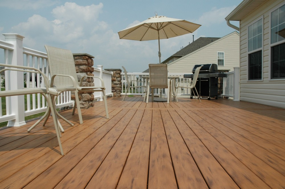 Photo By Breyer Construction & Landscape, LLC. TimberTech Deck