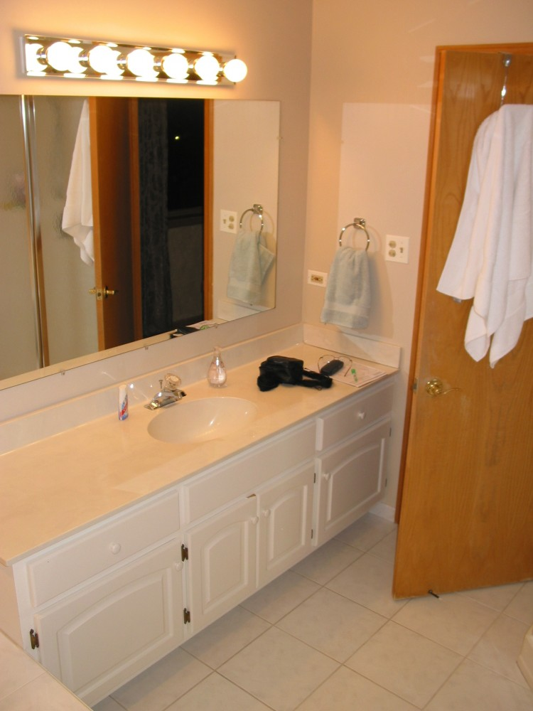 "Photo By DreamMaker Of Orland Park. ""Before"" & ""After"" Master Bath Remodel"