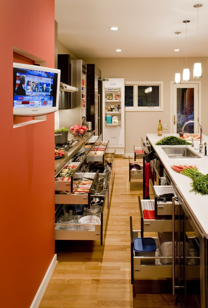 Photo By CARNEMARK Design + Build. Kitchen And Entertainment Area Renovation