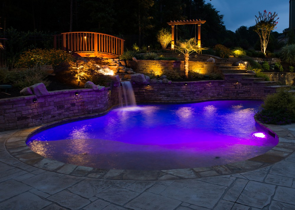 Photo By Lusk Pools. Custom Gunite