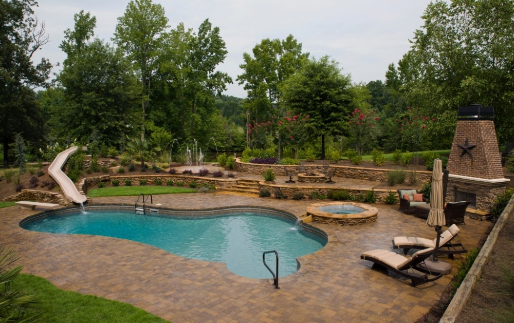 Photo By Lusk Pools. Complete Vinyl Makeover