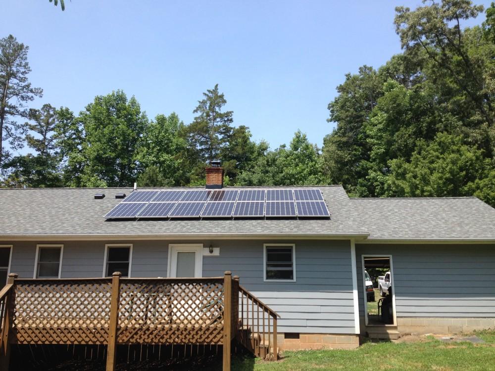 Photo By Baker Renewable Energy. Durham Residence