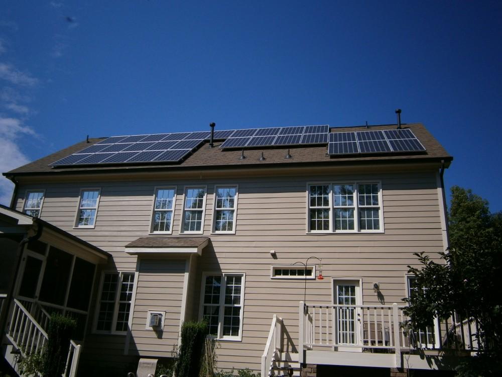 Photo By Baker Renewable Energy. Fuquay-Varina Residence