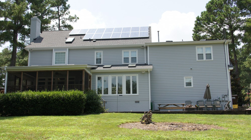 Photo By Baker Renewable Energy. Raleigh Residence
