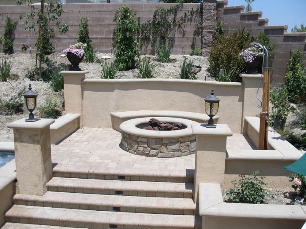 Photo By Paver Pros Plus. Patio-paver-fire Pit-landscape-barbeque