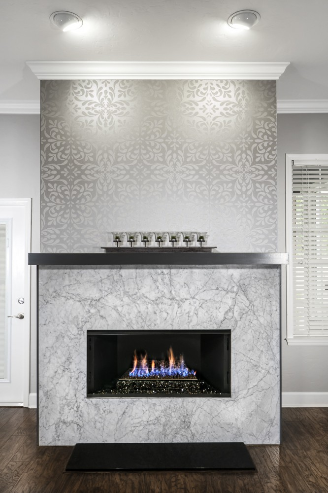Photo By Robinson Renovation & Custom Homes, Inc.. Fireplace And Kitchen
