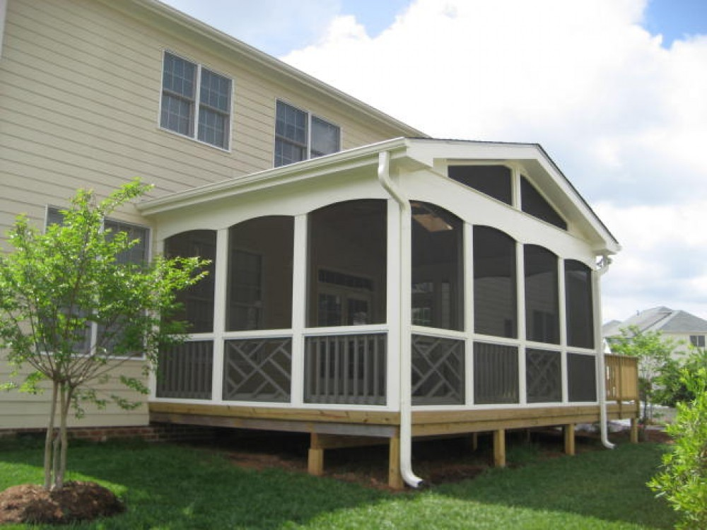 Photo By Home Renu.  Fenced Yard, Deck And Screened Porch