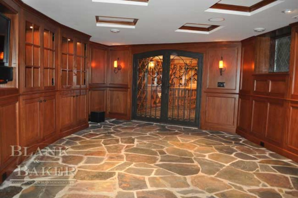 Photo By Blank & Baker Construction Management. Wine Cellar Remodel
