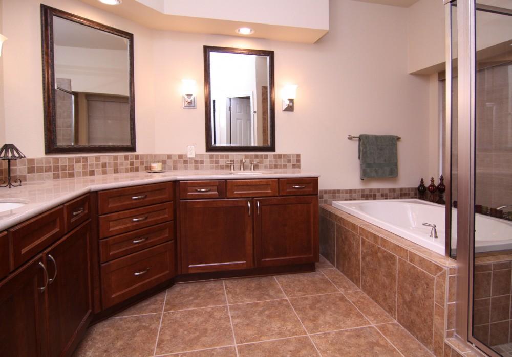 Photo By On Time Baths + Kitchens. Legend Oaks - Master Bath