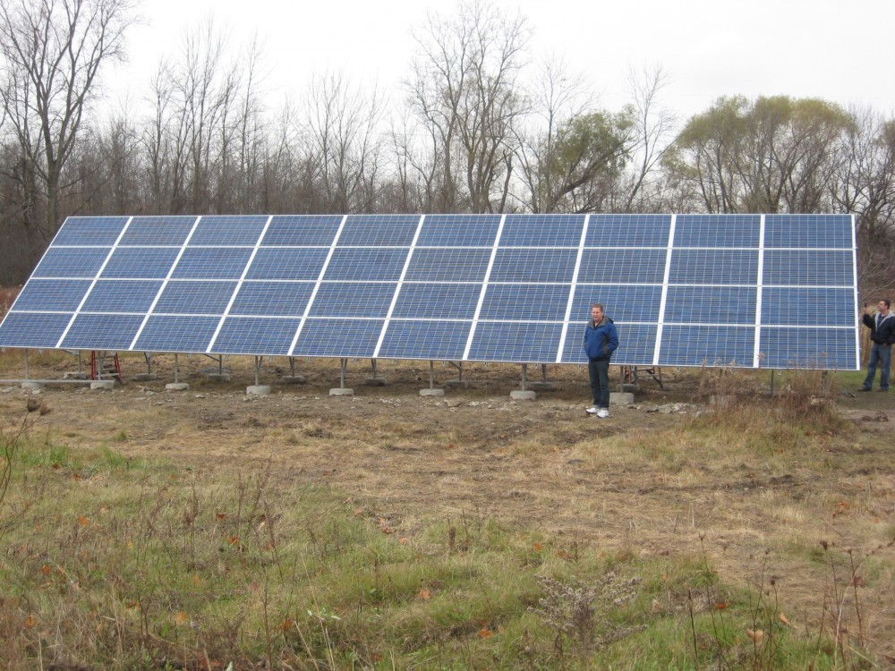 Photo By Michigan Solar Solutions. Residential Solar Arrays