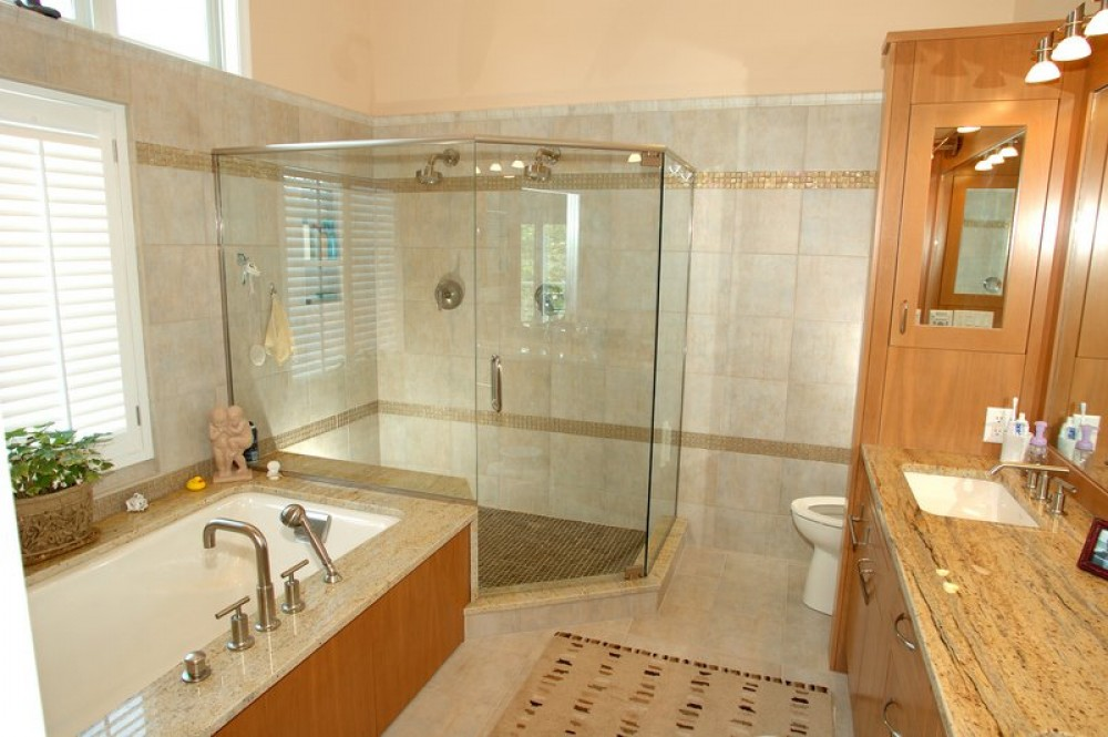 Photo By Boardwalk Builders. Remodeled Baths