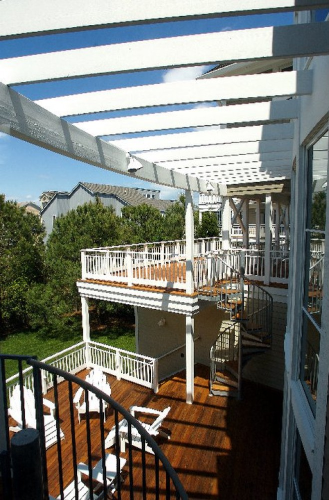 Photo By Boardwalk Builders. Decks & Deck Rails