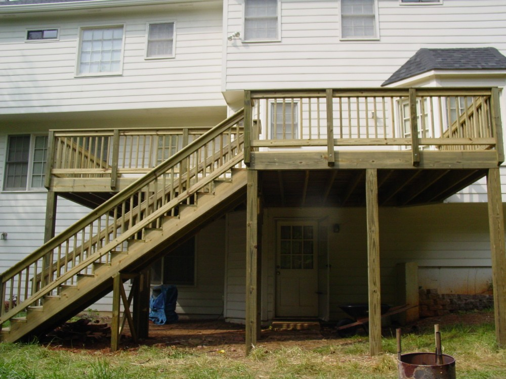 Photo By Verge Painting & Siding. Decks