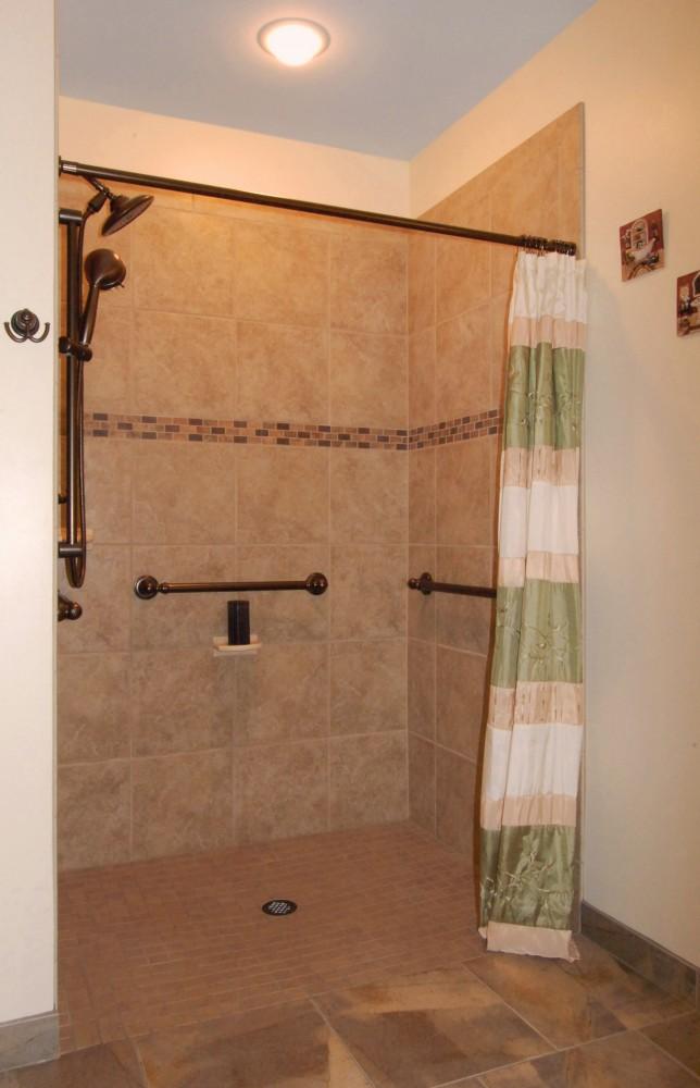 Photo By Klassen Remodeling & Design. Menomonee Falls Accessible Bath