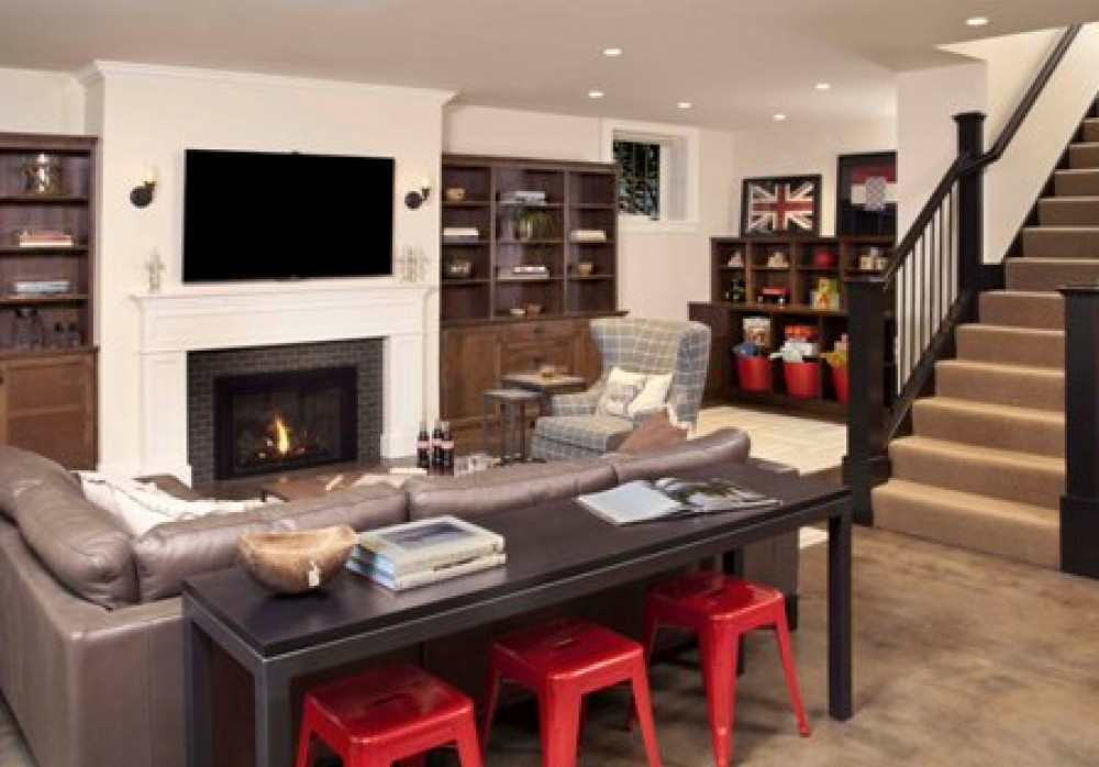 Photo By Prestige Residential Construction. Basement Remodel