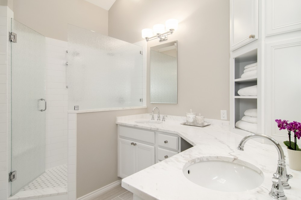 Photo By Hatfield Builders & Remodelers. Rive Master Bath