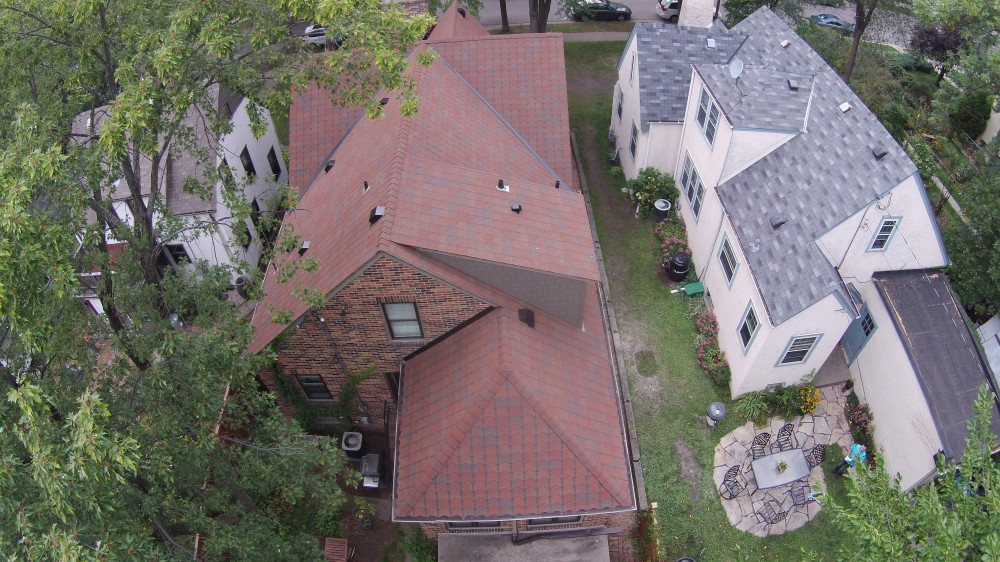 "Photo By Storm Group Roofing, LLC. GAF ""Designers"" Collection Roof. Style: ""Monaco"", Color: ""Valencia Sunset"