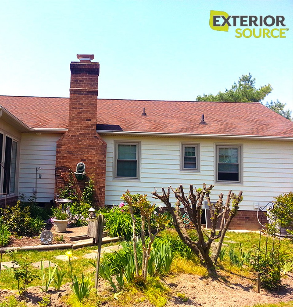 Photo By Exterior Source. Maintenance Free: Siding, Windows & Gutters