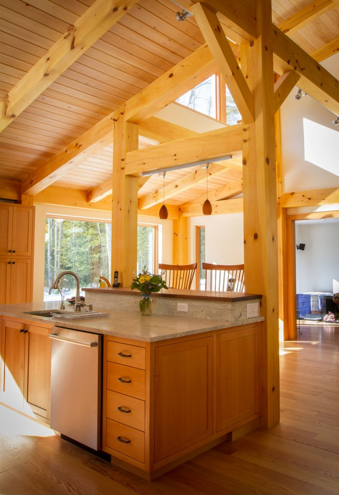 Photo By Benjamin And Company Timber Frames And Custom Homes. Custom Timber Frame Home In Maine