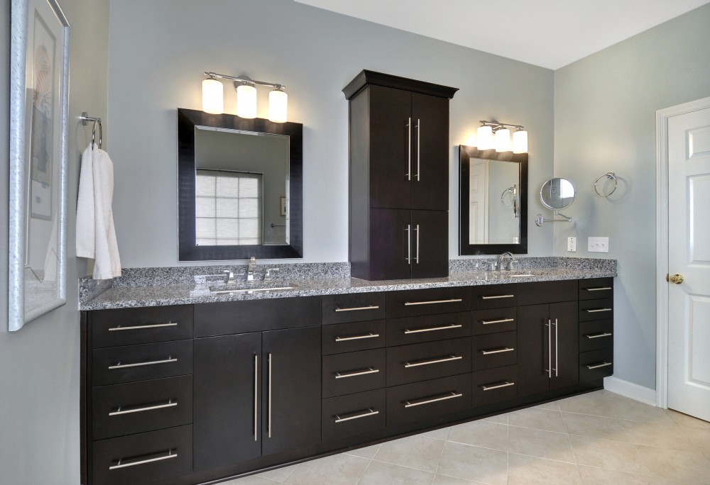 Photo By Strock Enterprises Design & Remodel. Master Bath