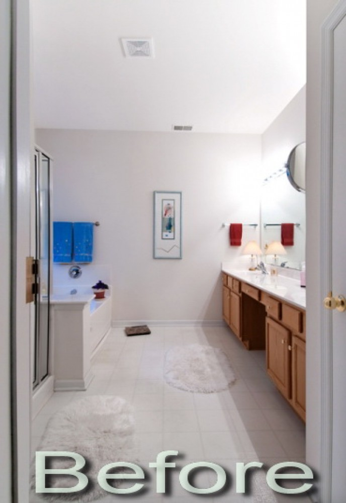 Photo By Strock Enterprises Design & Remodel. Master Bath