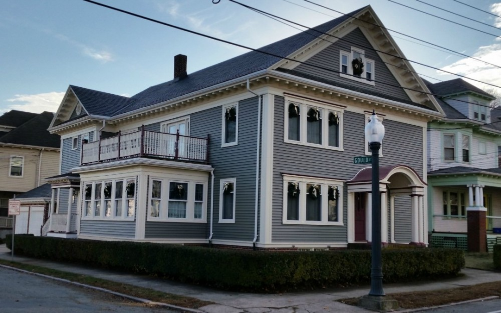 Photo By Care Free Homes Inc.. Historic New Bedford, MA Home Boasts Beautiful Siding Makeover