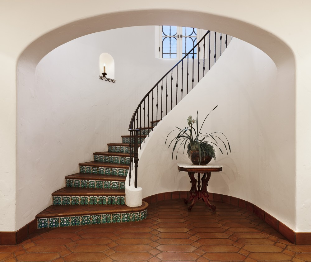 Photo By DD Ford Construction. Montecito Spanish Colonial