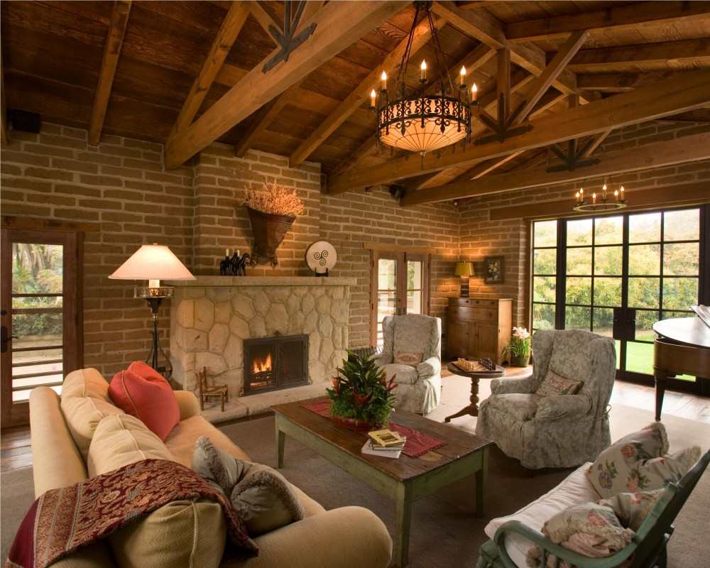 Photo By DD Ford Construction. Montecito Foothills Adobe