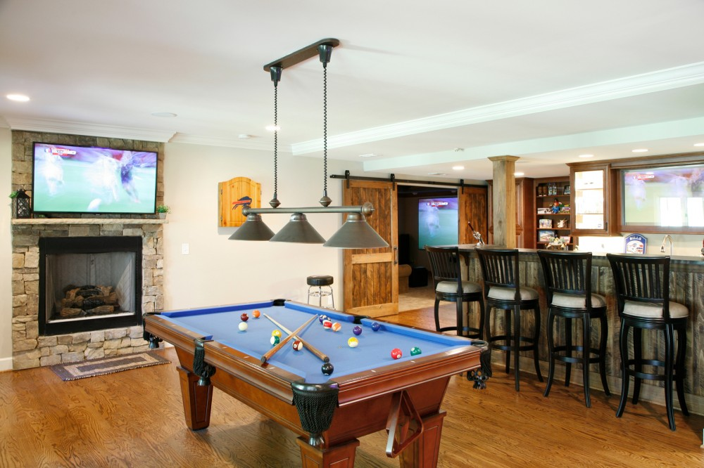 Photo By Atlanta Design And Build. Sports Bar Basement