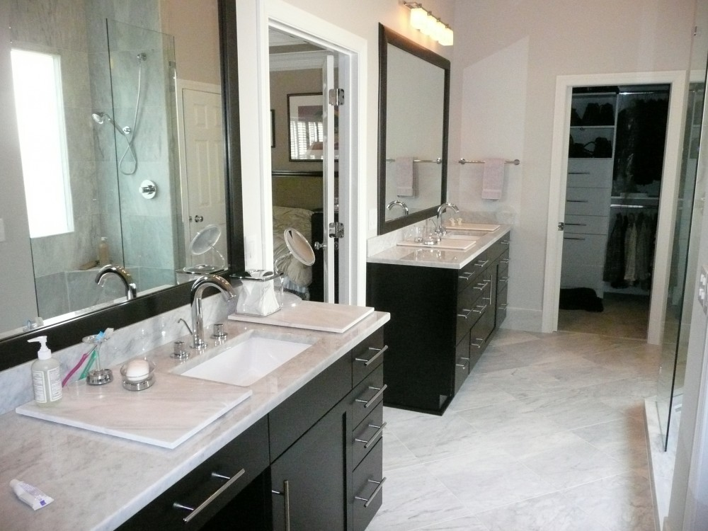 Photo By LEFKO Design + Build. Bathrooms
