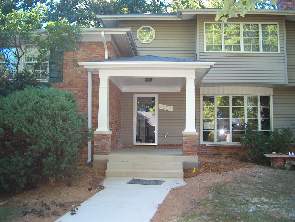 Photo By Houseworks Unlimited, Inc.. Craftsman Style Portico Addition Bethesda