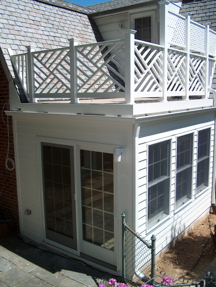 Photo By Houseworks Unlimited, Inc.. Sunroom Addition W/ Rooftop Sundeck