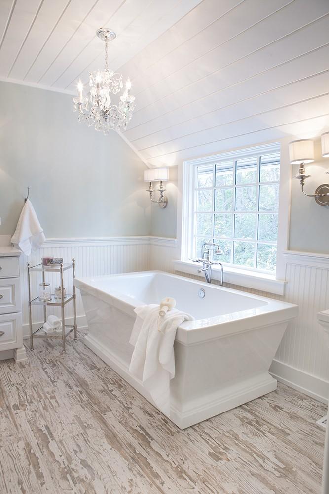 Photo By Advance Design Studio, Ltd.. Farmhouse Master Bath In Barrington Hills