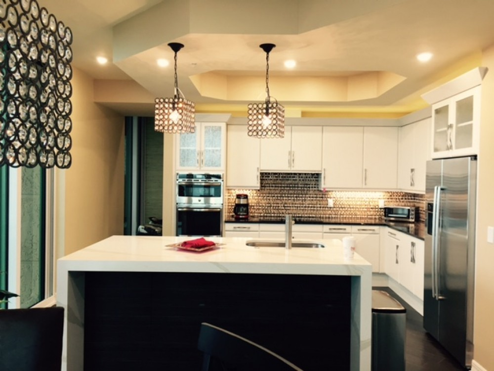 Photo By Marco Island Floor & Remodeling. Contemporary Eclectic Kitchen Remodel