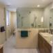 Photo by Danilo Nesovic, Designer Builder. Wood & Stone Modern Master Bath - thumbnail