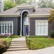 Photo by SuperiorPRO Exteriors. Stucco Painted Grey - With a Pop of Purple! - thumbnail