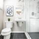 Photo by HC Remodel & Design. Dark and Light Bath - thumbnail