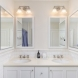 Photo by Bellweather Construction. Spruce Hill, Philadelphia: Traditional Bathroom Remodel with Built-in Vanity - thumbnail