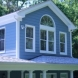 Photo by Custom Concepts Construction. Hardie Plank Lap Siding Boothbay Blue - thumbnail