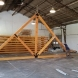 Photo by Lancaster County Timber Frames, Inc.. Timber Framed Trusses for Pavilion - thumbnail