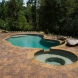 Photo by Lusk Pools. Custom Gunite with Spa - thumbnail